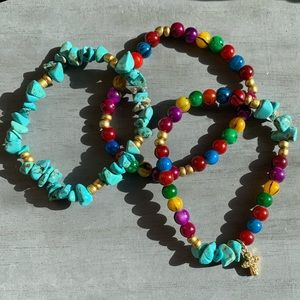 Handmade Colorful Bead Bracelet with Wagnerite